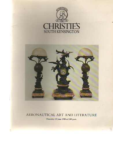 Christies 1988 Aeronautical Art & Literature