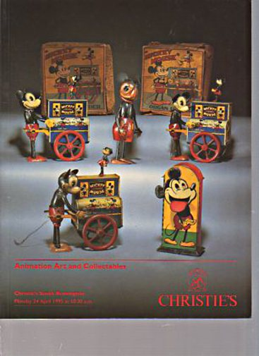 Christies 1995 Animation Art and Collectables