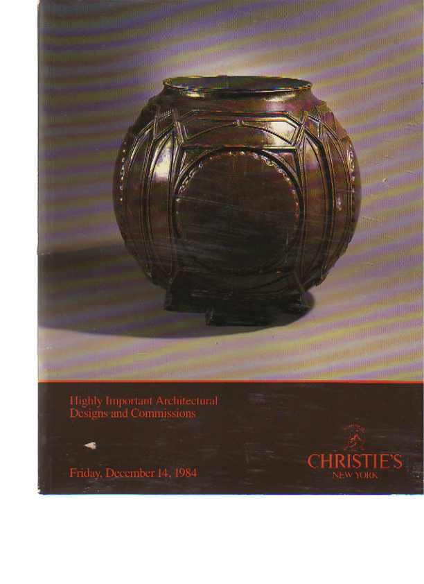 Christies 1984 Highly Important Architectural Designs