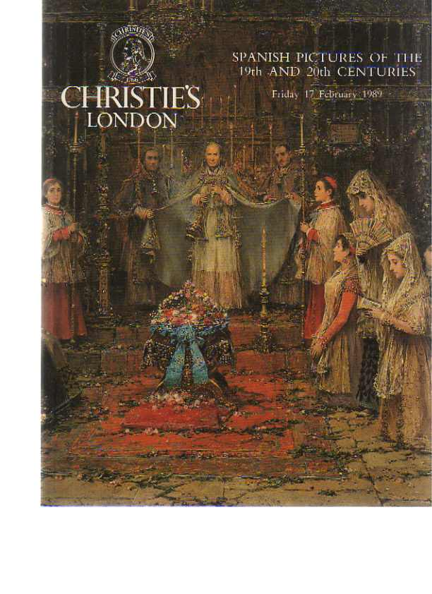 Christies 1989 Spanish Pictures of the 19th & 20th Centuries
