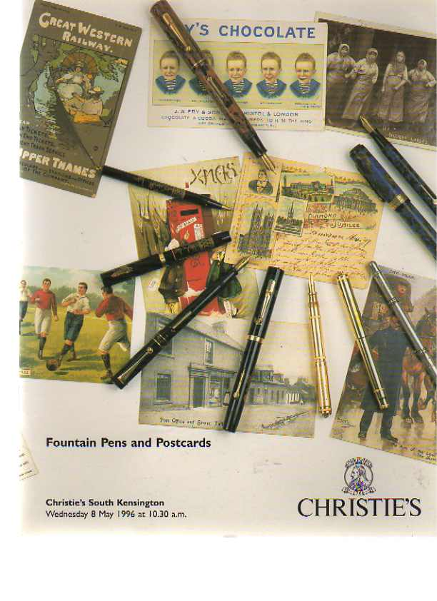 Christies 1996 Fountain Pens and Postcards