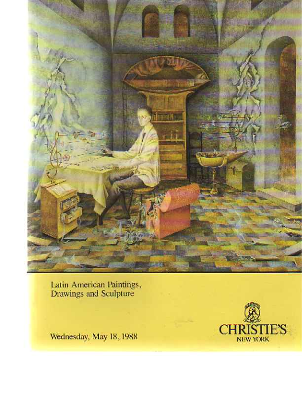 Christies May 1988 Latin American Paintings, Drawings, Sculpture