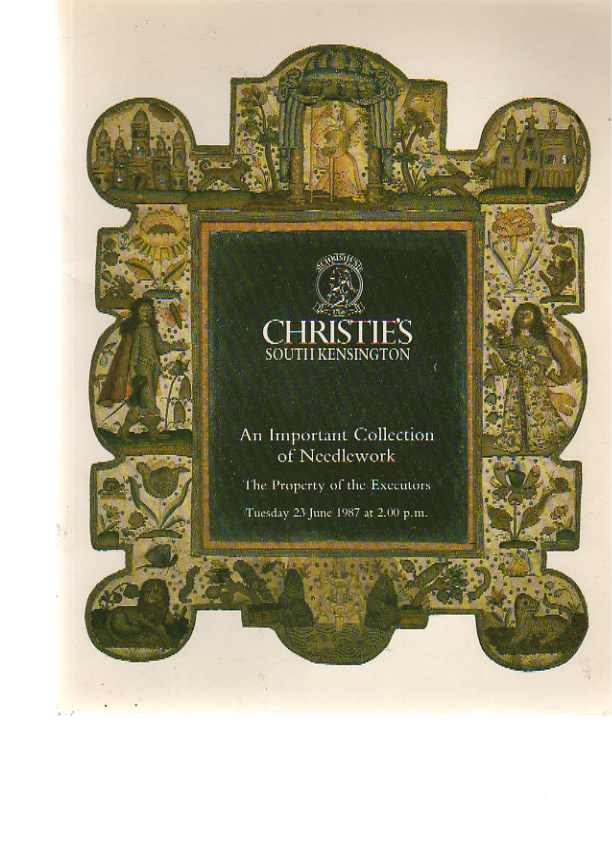 Christies 1987 An Important Collection of Needlework