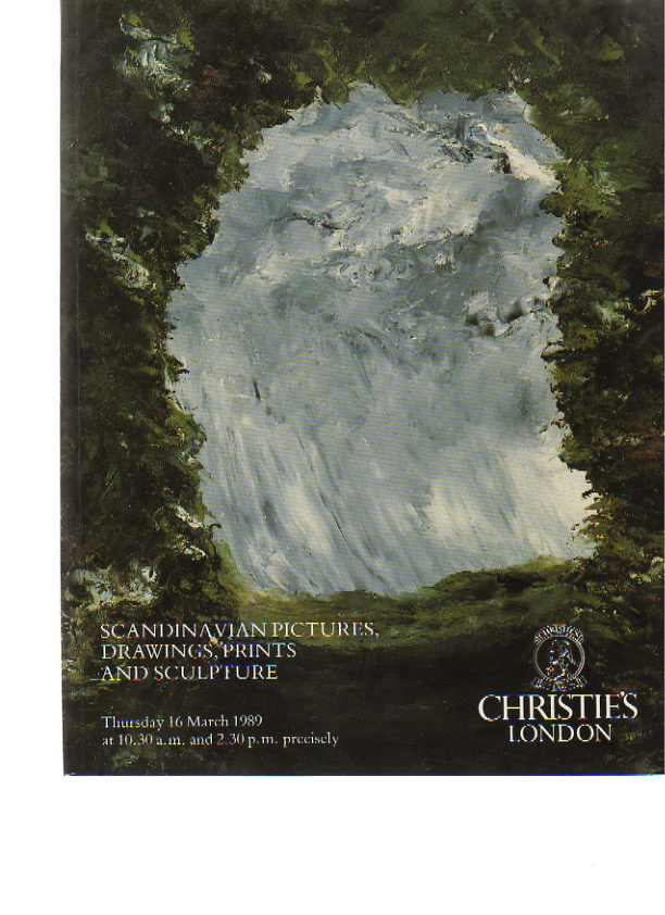 Christies 1989 Scandinavian Pictures, Drawings, Prints Sculpture
