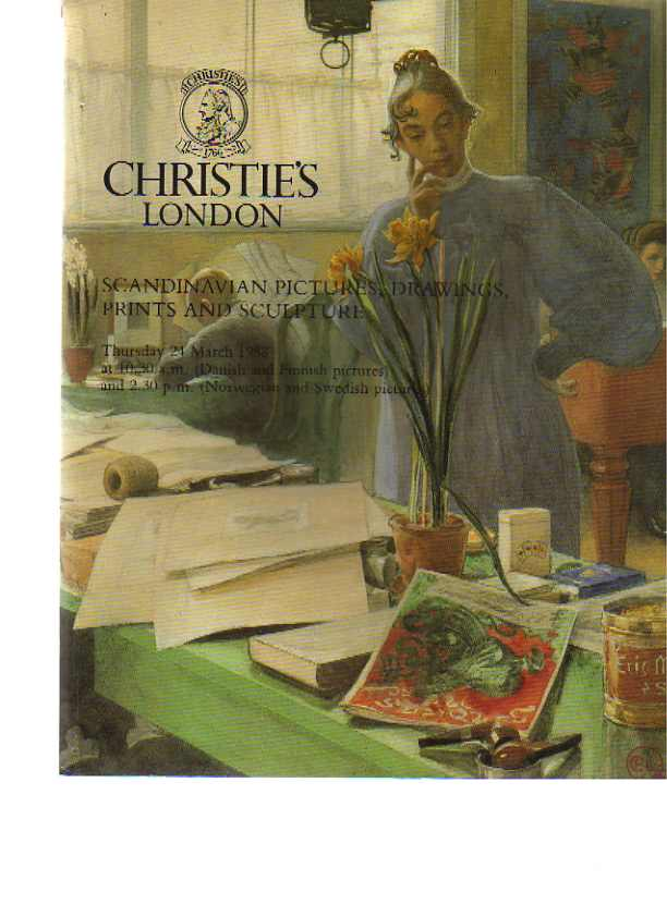 Christies 1988 Scandinavian Pictures, Drawings, Prints Sculpture