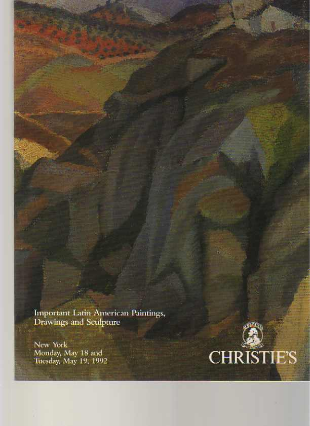 Christies 1992 Important Latin American Paintings, Drawings..