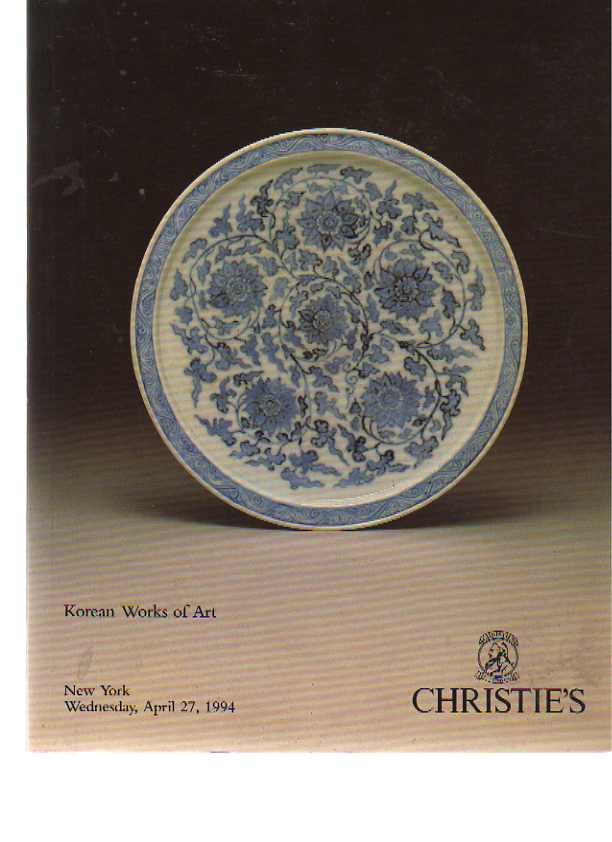 Christies 1994 Korean Works of Art