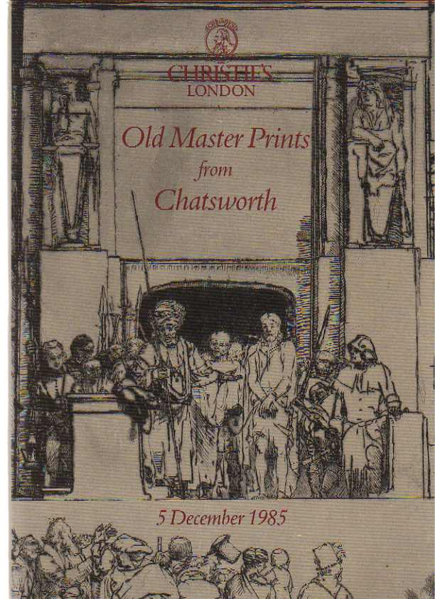 Christies 1985 Old Master Prints from Chatsworth