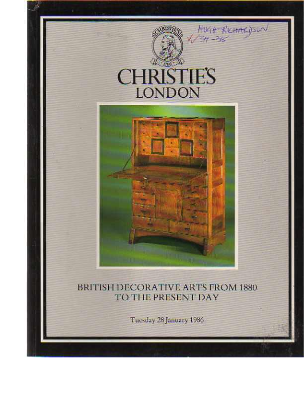 Christies 1986 British Decorative Arts 1880 to the Present Day