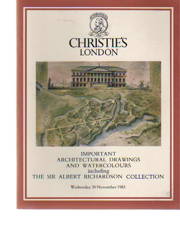 Christies 1983 Richardson - Architectural Drawings & Watercolors