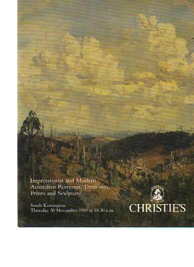 Christies 1989 Impressionist & Modern Australian Paintings