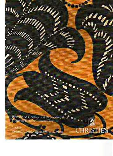 Christies 1994 British & Continental Decorative Arts 1860 to present day