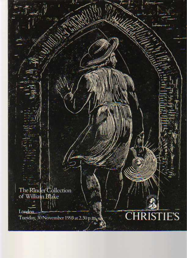 Christies 1993 Rinder Collection William Blake Books & Prints