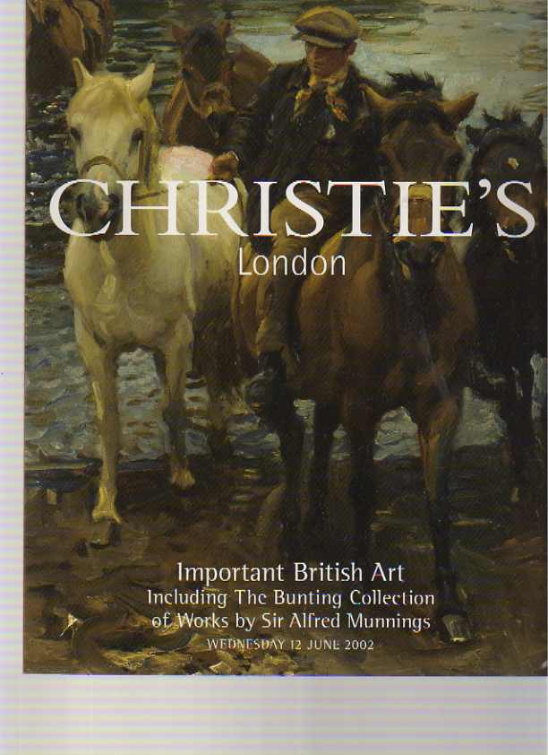 Christies 2002 British Art, inc Bunting Collection of Munnings