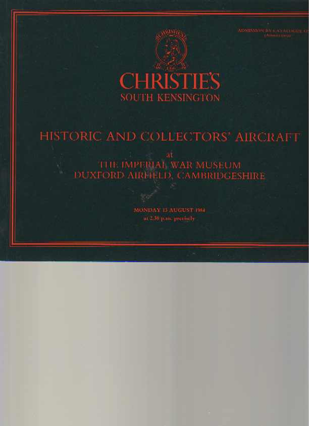 Christies 1984 Historic & Collectors' Aircraft