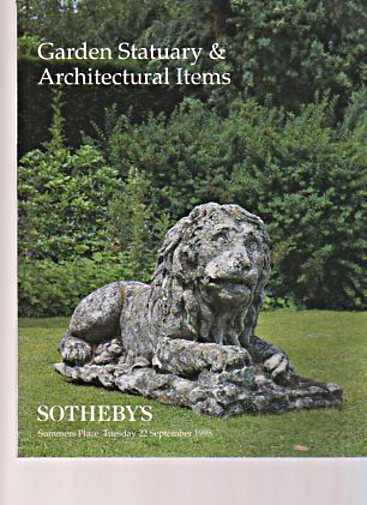 Sothebys 1998 Garden Statuary & Architectural Items