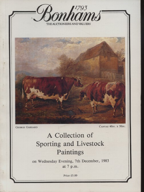 Bonhams December 1983 A Collection of Sporting and Livestock Paintings