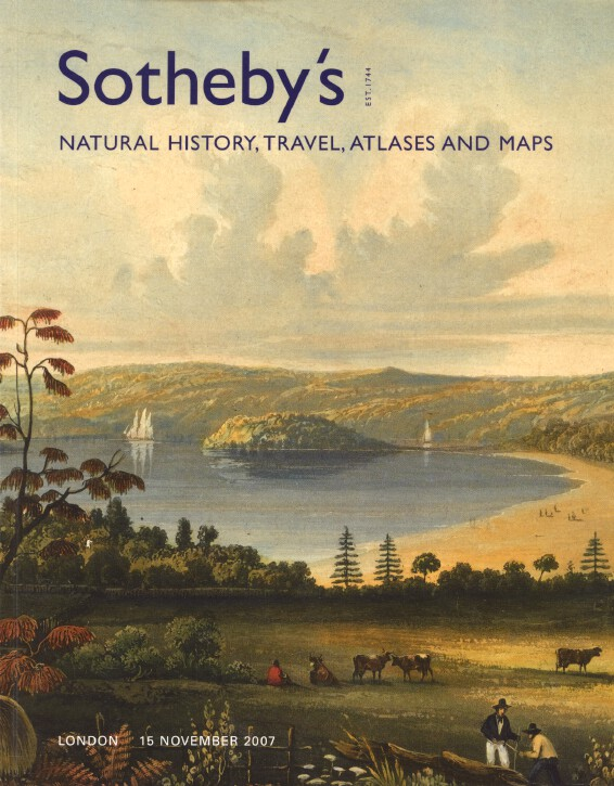 Sothebys November 2007 Natural History, Travel, Atlases and Maps