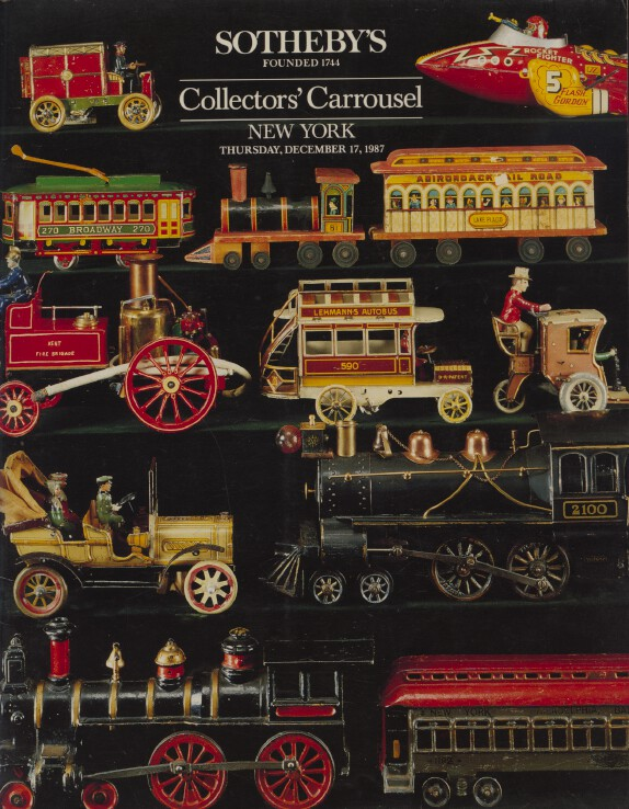 Sothebys Dec 1987 Collectors' Carrousel inc. Dolls, Animated & Comic Art etc.