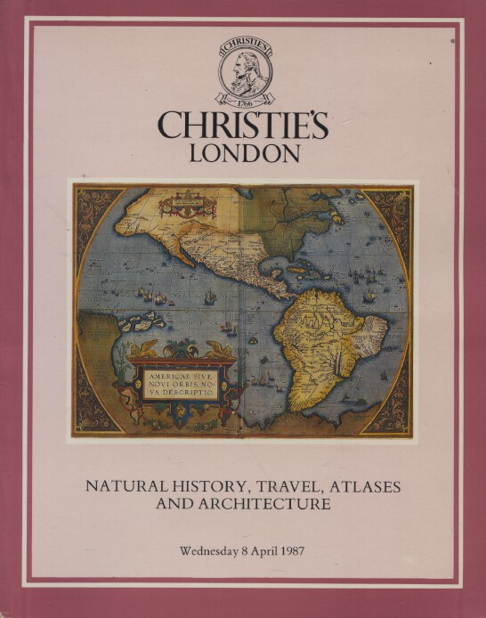 Christies April 1987 Natural History, Travel, Atlases and Architecture