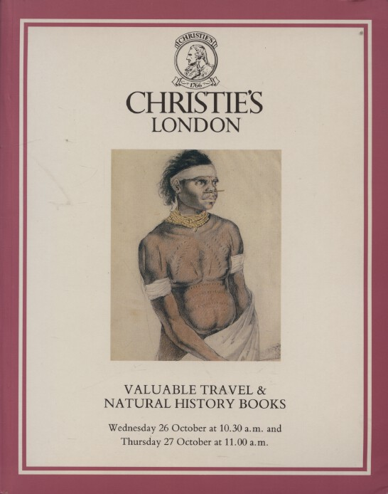 Christies October 1988 Valuable Travel & Natural History Books