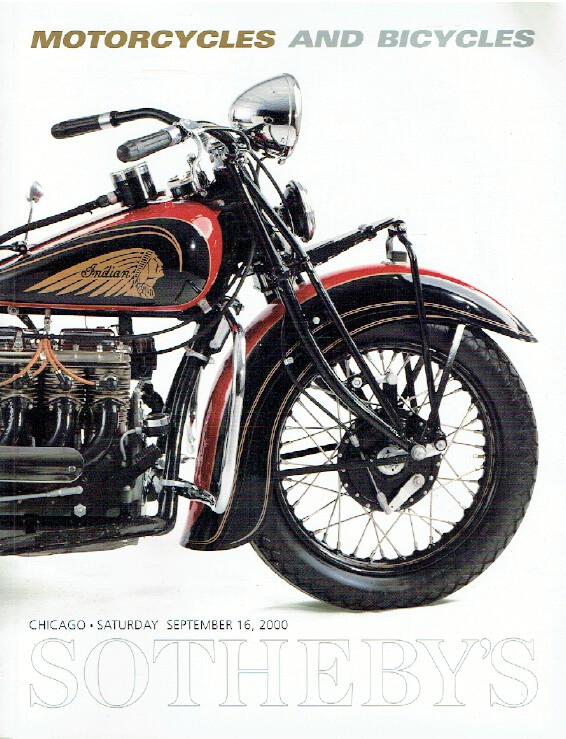 Sothebys September 2000 Motorcycles and Bicycles