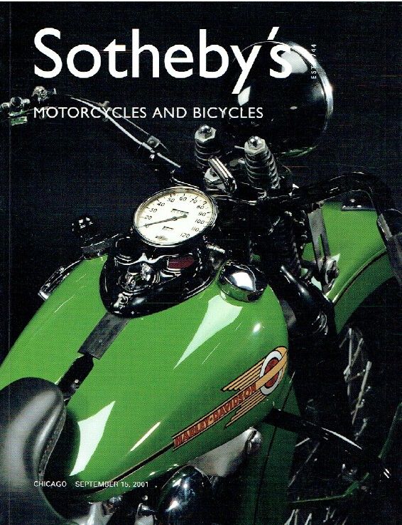 Sothebys September 2001 Motorcycles and Bicycles