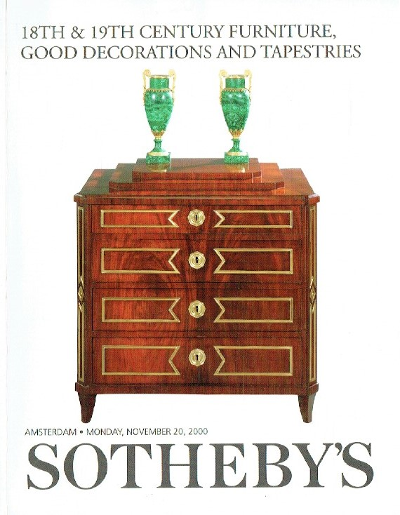 Sothebys November 2000 18th & 19th Century Furniture & Tapestries