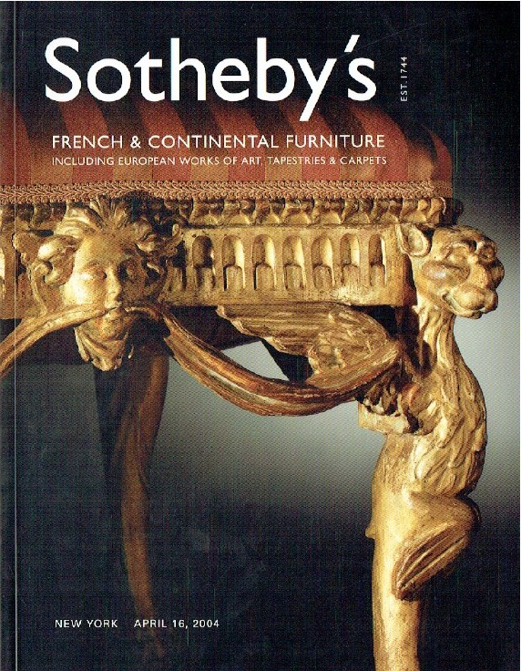 Sothebys April 2004 French and Continental Furniture