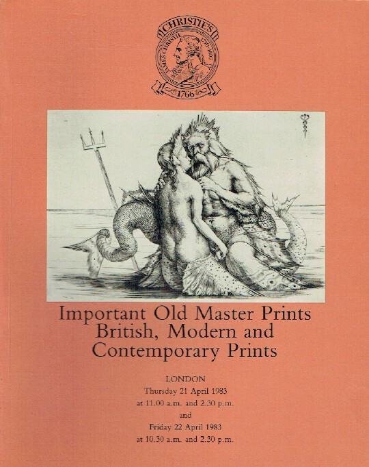 Christies April 1983 Old Master Prints British, Modern and Contemporary Prints