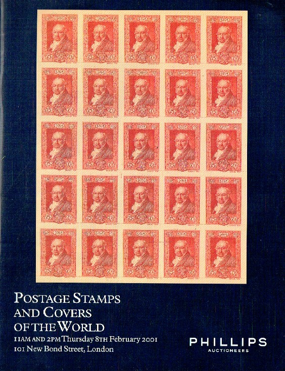 Phillips February 2001 Postage Stamps and Covers of the