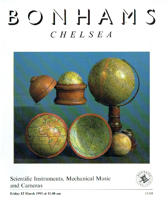 Bonhams March 1993 Scientific Instruments, Mechanical Music and Cameras