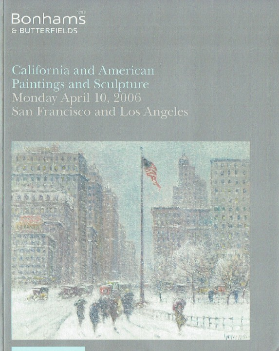 Bonhams & Butterfields April 2006 California & American Paintings & Sculpture