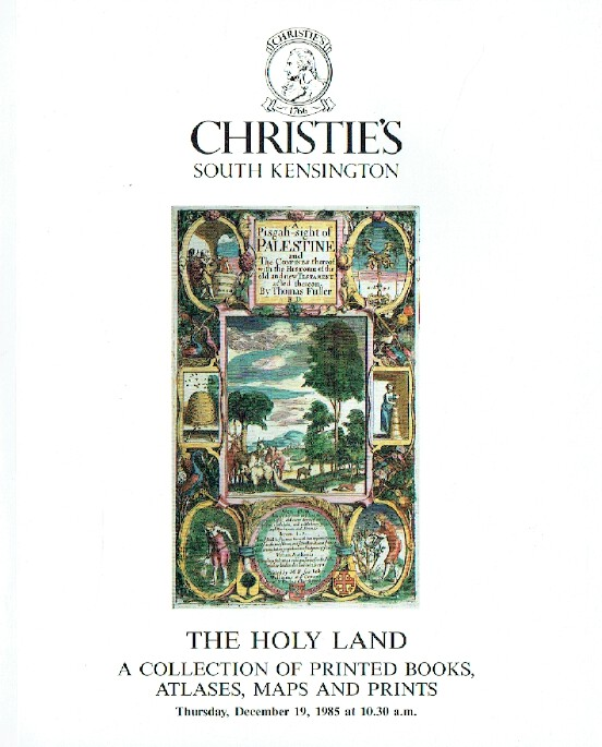 Christies December 1985 The Holy Land - Books, Atlases & Prints Collection