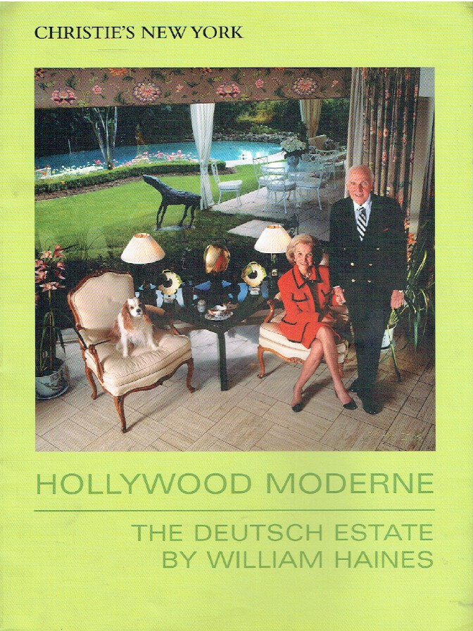 Christies September 2006 Hollywood Moderne The Deutsch Estate by William Haines