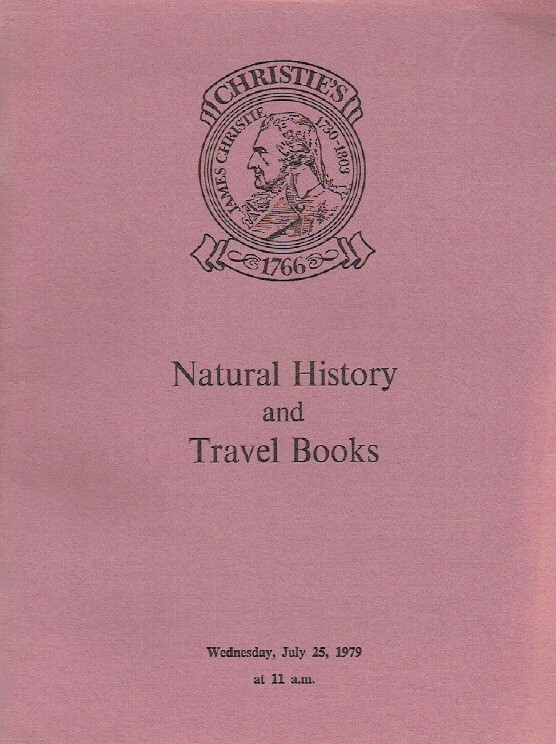 Christies July 1979 Natural History and Travel Books