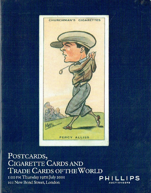 Phillips July 2001 Postcards, Cigarette Cards & Trade Cards of the World