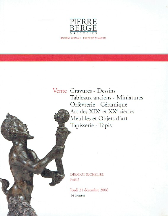 Berge December 2006 Engravings Ancient Paintings, Miniatures & Tapestry