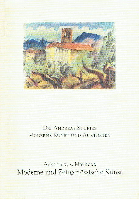 Andreas Sturies May 2002 Modern & Contemporary Art