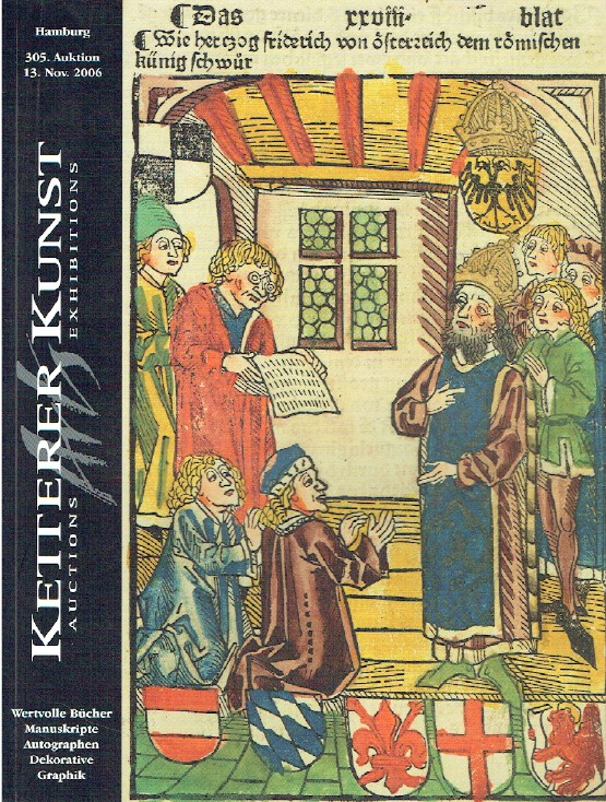 Ketterer November 2006 Valuable Books, Manuscripts, Autographs & Decorative Art