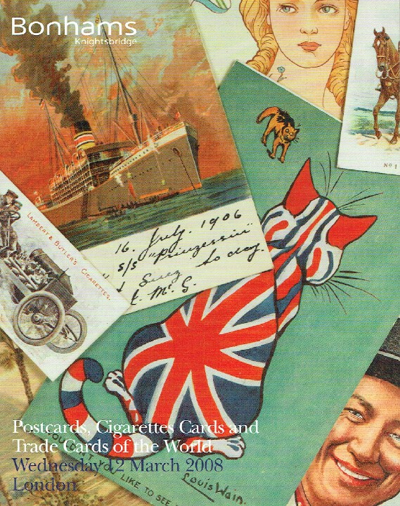 Bonhams March 2008 Postcards, Cigarette Cards and Trade Cards of The World