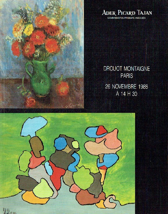 Ader Picard Tajan November 1988 19th & 20th Century Paintings
