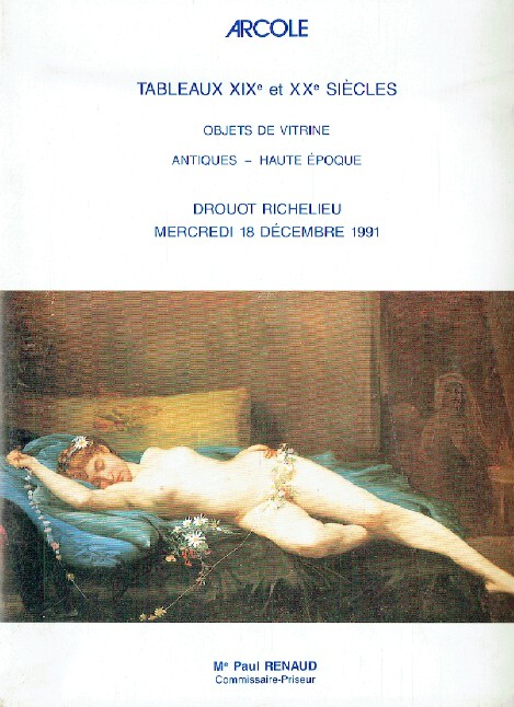 Arcole December 1991 19th & 20th Century Paintings, Antiques - Haute Epoque