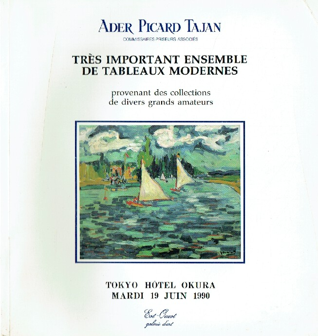 Ader Picard Tajan June 1990 Important Modern Paintings
