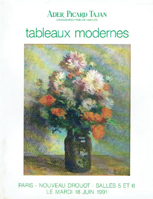 Ader Picard Tajan June 1991 Modern Paintings