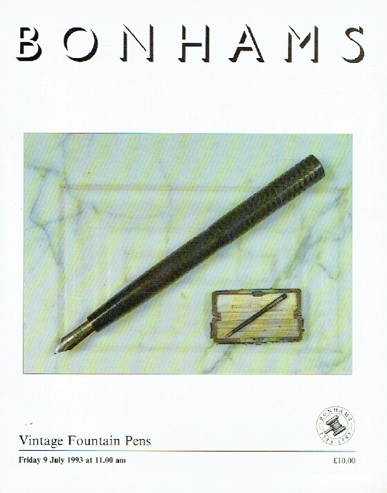 Bonhams July 1993 Vintage Fountain Pens