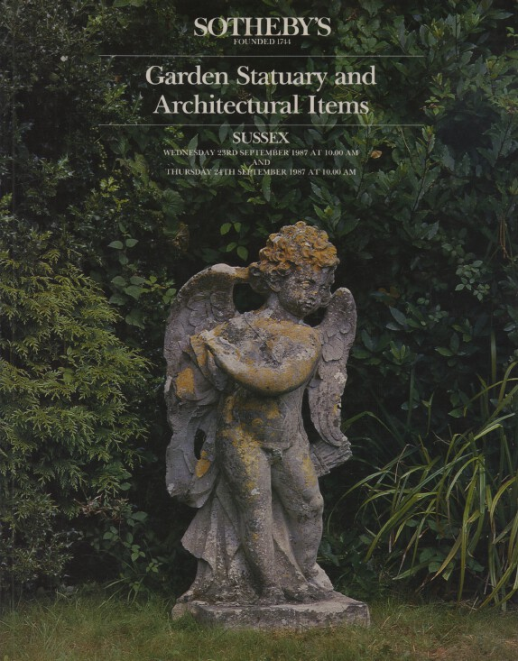 Sothebys September 1987 Garden Statuary & Architectural Items