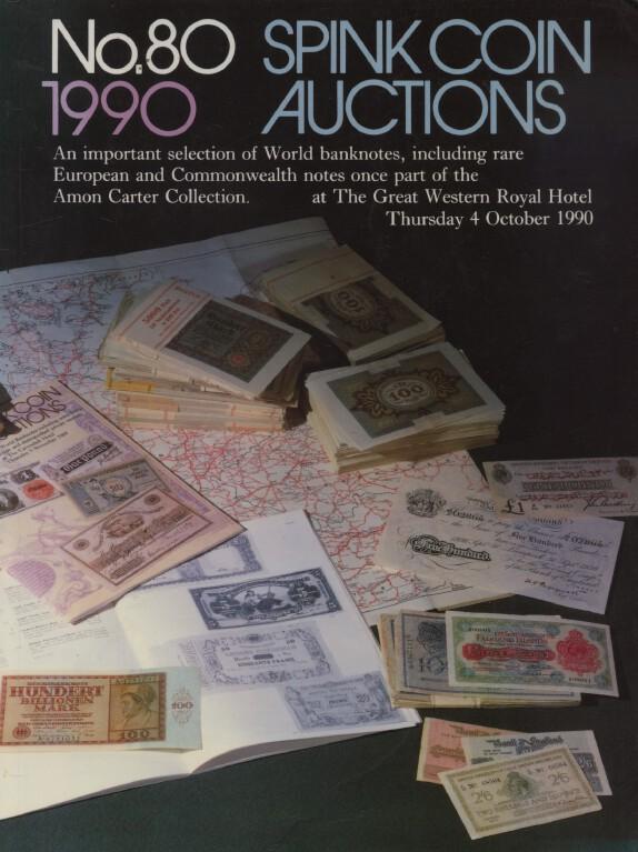 Spink October 1990 World Banknotes inc  Rare European