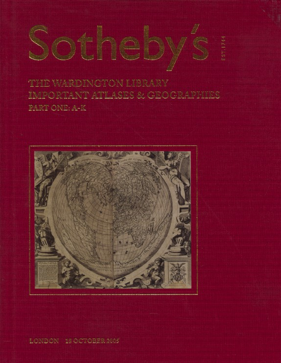 Sothebys Oct 2005/2006 Wardington Library Important Atlases & Geographies 2 Vols