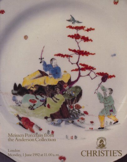 Christies 1992 Meissen Porcelain from the Anderson Collection